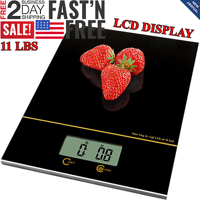 Kitchen Scale Electronic Food Weighing Accuracy Digital Measuring Gram Accurate