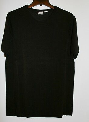ARMANI EXCHANGE CREW NECK KNIT SPORT SHIRT, Black, X-Large, Very Good Condition