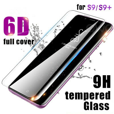 For Samsung Galaxy S7 S8 S9 Plus Screen Protector 6D Full Curved Tempered Glass