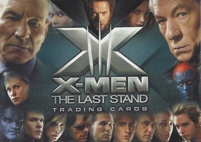 72 Card Basic / Base Set X-Men 3 The Last Stand X3 Marvel Jackman Stewart Paquin
