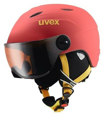 UVEX junior VISOR Pro Ski - Helm  Fb. chilired  mat Gr. 52 - 54 cm :NEU: 2017: