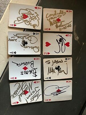 21 Autographed Playing Cards Magic Magicians You Identify