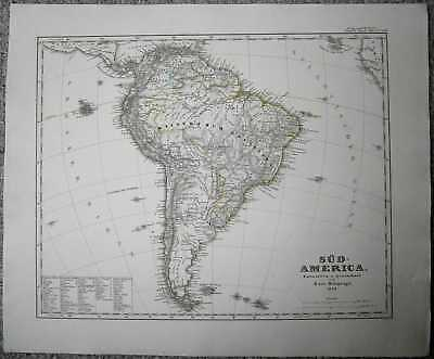 1848 Stieler map SOUTH AMERICA (#49a)