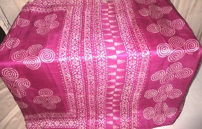 Magenta Off-white Pure Silk 4 yd Vintage Antique Sari Saree Pretty Girls #9DRLM