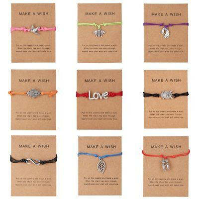 Make A Wish Bracelet Tibetan Charm Friendship Birthday Best Friend Sister Gift