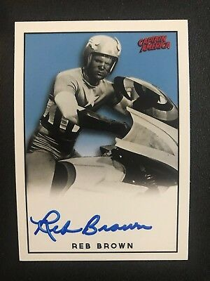 Captain America Reb Brown Signed LE Trading Card