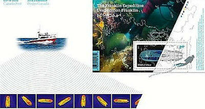 Franklin Expedition: Souvenir Sheet First Day Cover Canada 2015