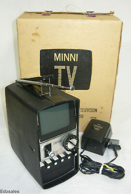 Vintage Minni TV Portable Symphonic Solid State Television TPS-30