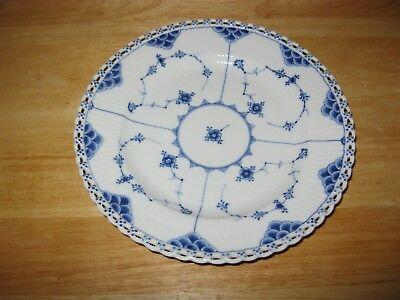 Royal Copenhagen BLUE FLUTED FULL LACE Dinner Plate By Arnold Krog HANDCRAFTED