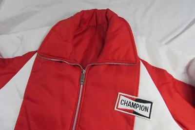 Vtg 60s 70s Champion Spark Plugs Reversible Jacket Official Racing Apparel XL