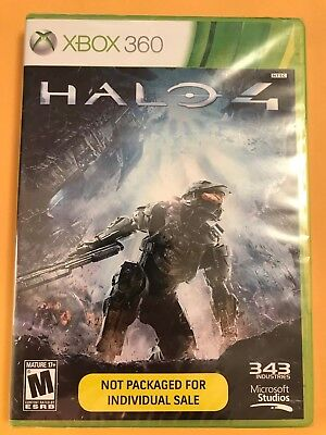Halo 4 (Microsoft Xbox 360, 2012) Brand New, Factory Sealed Video GaMe