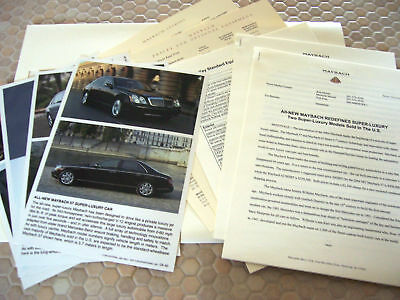 MAYBACH OFFICIAL 57 & 62 AUTOSHOW FULL PRESS RELEASE KIT BROCHURE 2004 USA Ed