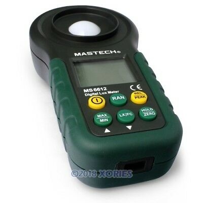 Professional Digital Light Meter 200,000 Lux High Accuracy Led Audit Intensity