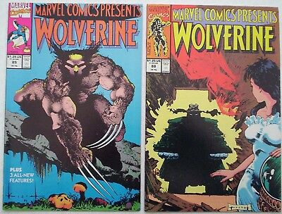"""1991. TWO x """"WOLVERINE"""" Marvel comics Vol.1. #'s 85 and 88. Fine."""