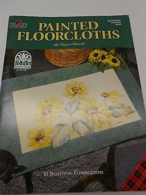 "Plaid Folk Art Decorative Painting Book #948 0 -""Painted Floorcloths"" G. Edwards"