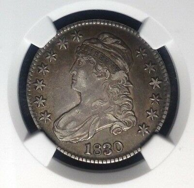 1830 Capped Bust Silver Half Dollar ~ Ngc Xf 40