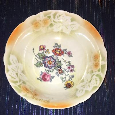 "Eleanor Of Bavaria 9"" Serving Bowl Lusterware Floral Bowl"
