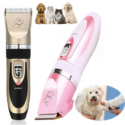Professional Mute Cordless Pet Cat Dog Fur Hair Trimmer Clipper Shaver Kit Set