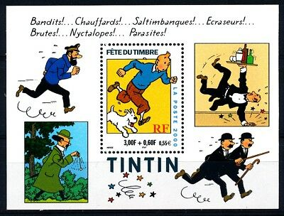DBX - Timbre de France Bloc  N° 28 Neuf Luxe** Tintin