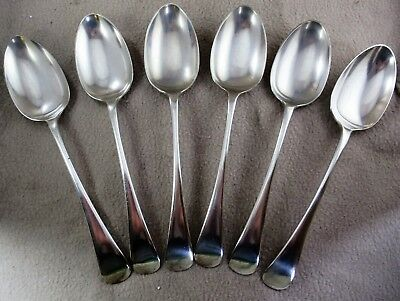 Vintage Set of 6 Silver Plate Table Spoons by Harrison Brothers & Howson