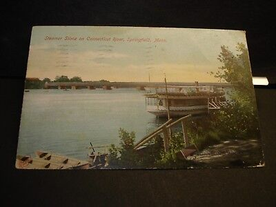 Steamer SILVIA on Connecticut River Naval Cover 1908 Springfield, Mass