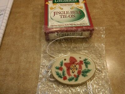 Longaberger 1994 Holiday Jingle Bell Tie On New In Package
