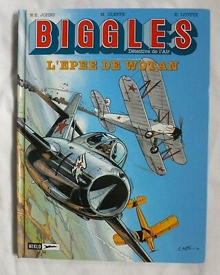 Biggles graphic novel French vol 11 Epee de Wotan W E Johns Oleffe Loutte hb vgc