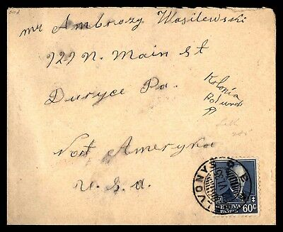 Elvonys Jun 12 1935 Single Franked Cover To Duryce Pa Usa