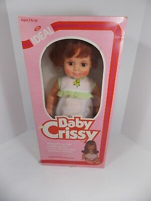 """Baby Crissy Life Size 24"""" Doll W/box Ideal 1972 As Is"""
