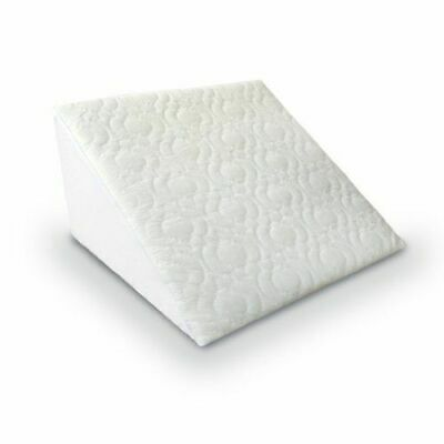 Orthopedic Bed Wedge Pillow, Acid Reflux, Back Support Pillow with Quilted Cover