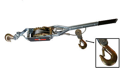 Heavy Duty 2 Ton Hand Winch Manual Hook Cable Puller Boat ATV Trailer Hoist
