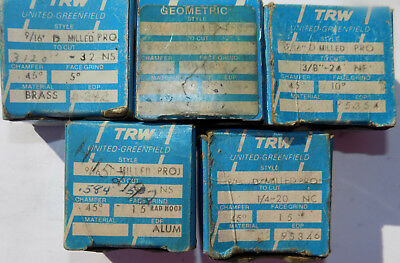 """TRW Greenfield GEOMETRIC THREAD CHASERS 9/16"""" D MILLED PRO  5 Sets 1/4- 5/8 #316"""