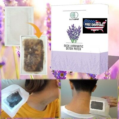 10-patches-Neck-Lymphatic-Detox-Patch-Anti-Swelling Herbal  Lymph Pads