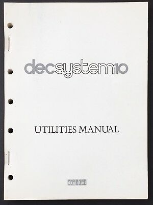 Digital DEC System 10 Utilities Manual 1975