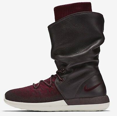 huge selection of 413d3 d75c3 Women s Nike Roshe Two Hi Flyknit Boots -Deep Burgundy -Size 7 -861708 600