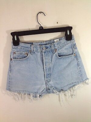 "vintage levis cut-offs denim jean shorts button fly 501 cut off 70's 80's 29"" W"