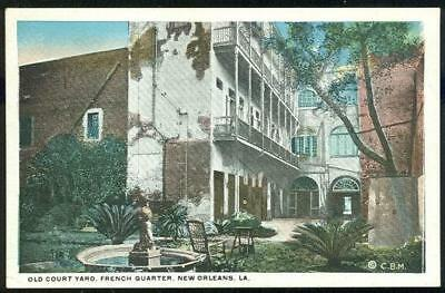 Vintage Unused Postcard of Old Court Yard French Quarter, New Orleans, Louisiana