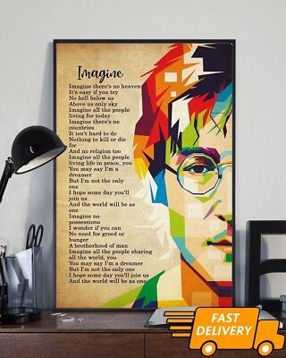 John Lennon Imagine The Beatles Poster 11-36 Inches Poster Without Frame