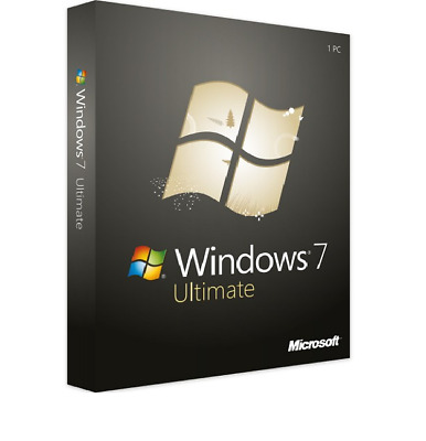 WINDOWS 7 ULTIMATE 1PC 32/64 BIT GENUINE ACTIVATION KEY + Download Link