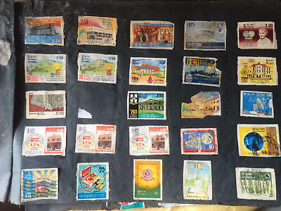 Stamps collection Ceylon  Rare Sri Lanka 10 Stamps (random 10 stamps from below)