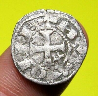 MEDIEVAL SPANISH KNIGHTS TEMPLAR CROSS COIN EUROPEAN CRUSADER 11 - 12th Century