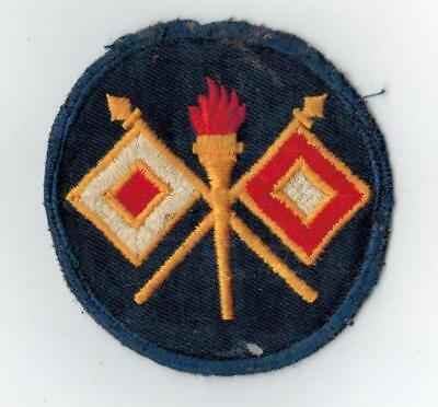 WWII Signal Corps Cheese Cloth Uniform Patch WW2 US Original Mose Collection QQ