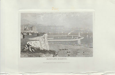 1846 Eight Antique Prints - KENT - Ramsgate, Maidstone, Margate, Woolwich, Dover