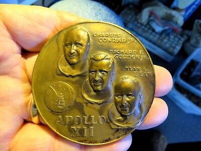 Apollo Eleven (Ii) Armstrong Collins Aldrin Medallic Art Co. Large Bronze Medal