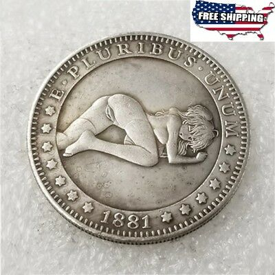 Sexy-girl-1881-CC - U.S Morgan-Dollar-Hobo-Nickel Coin  commemorative coins