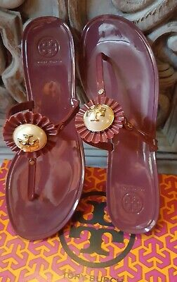 8788150c5b7 Tory Burch MELODY THONG SANDAL Port Royal Burgundy - Choose Various Sizes  (New)