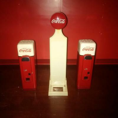 Never Used, Only Displayed COCA-COLA SALT & PEPPER SHAKERS Coke Coca Cola