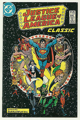 Justice League Of America #217 So Much Fun Variant Fine/Very Fine George Perez