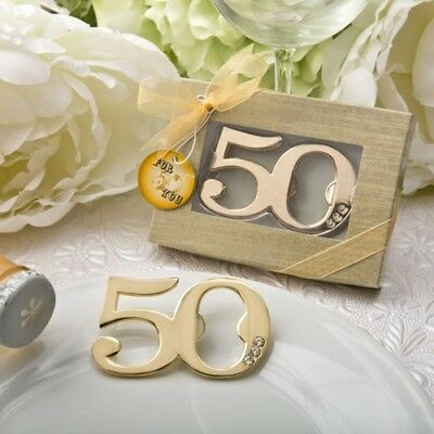 70 Gold 50th Birthday & 50th Anniversary Bottle Openers Party Favors