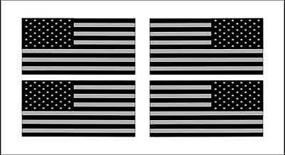 4 American Flags Black Ops Stealthy Vinyl Decals Stickers AR-15 Hard Hat Helmet